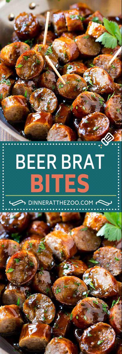 Beer Brat Bites - Dinner at the Zoo