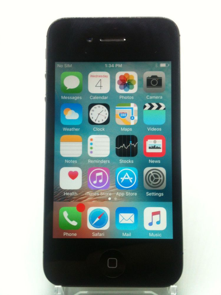 82212505227 Apple iPhone 4S 16GB Black AT&T A1387 iOS 9.3.5 #MC922LL/A Ready To  Activate #Apple #Bar