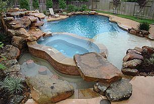 Great Rustic Swimming Pool. Top Pinterest pick by RetoxMagazine.com