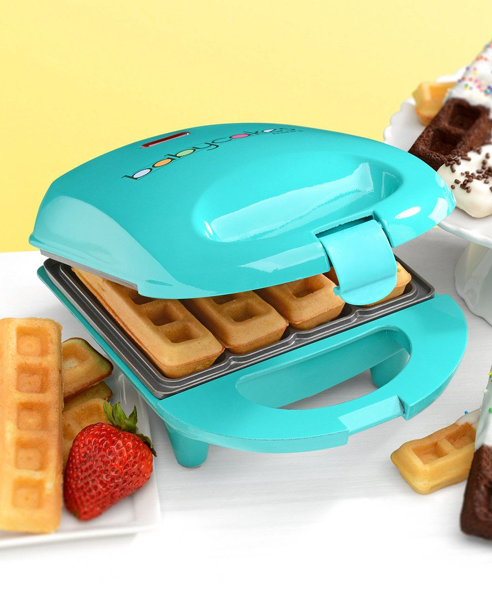 Look what I found on #zulily! BABYCAKES Teal Mini Unit Waffle Stick ...