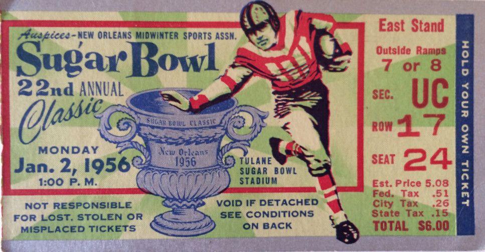 Pin by Mag Neat O Man on Sugar Bowl Football ticket