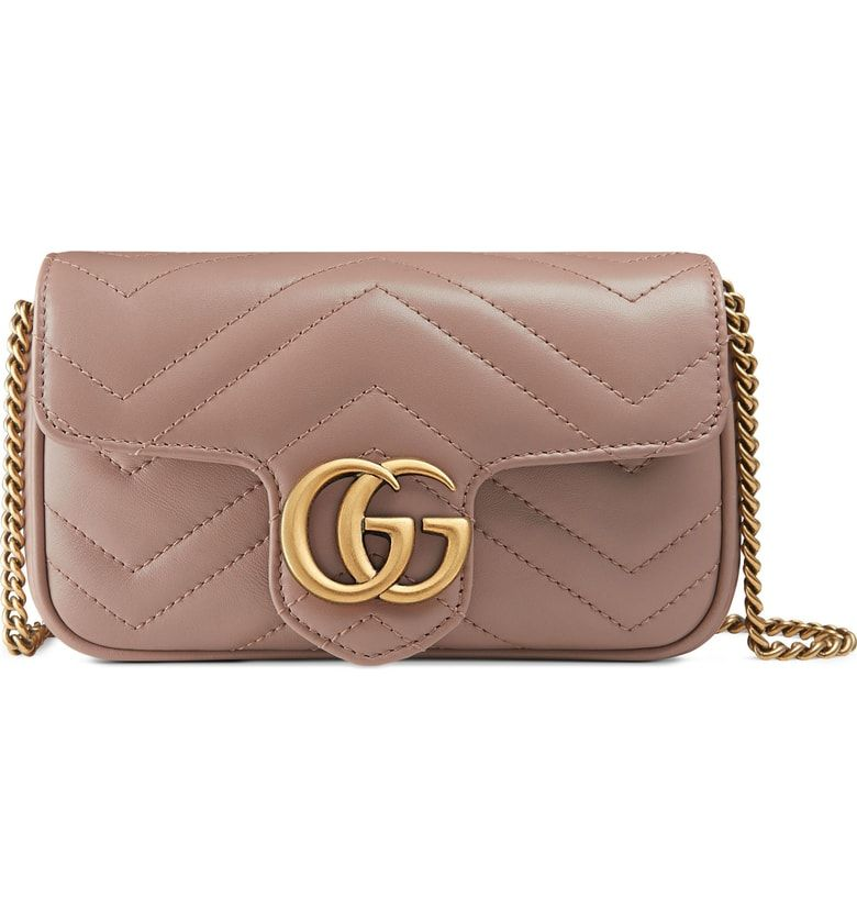 22a6d024fe6c Free shipping and returns on Gucci Supermini GG Marmont 2.0 Matelassé  Leather Shoulder Bag at Nordstrom.com. Double G logos inspired by a  '70s-era design ...