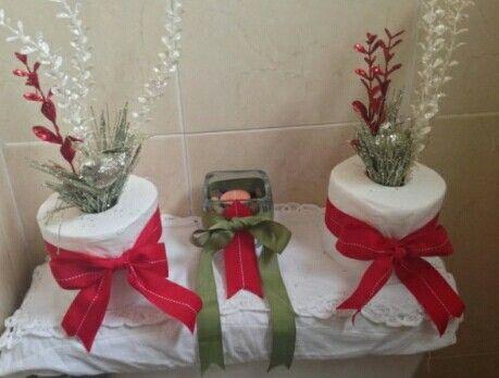 Decoración navideña para el baño Decoración navideña Pinterest - decoraciones navideas para el hogar