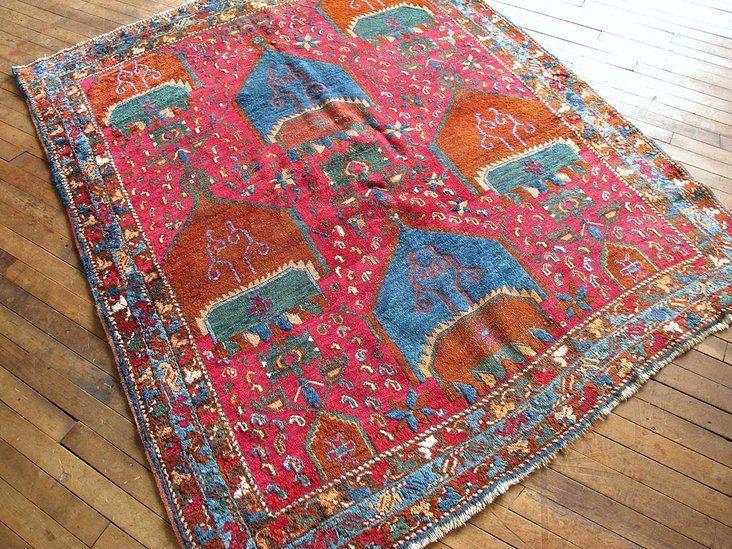 Antique Persian Afshar Rug 5