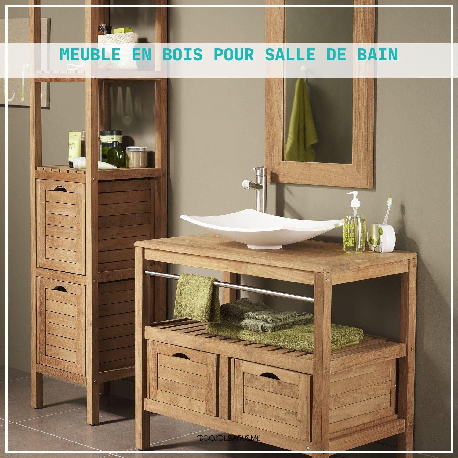 7 Unique Meuble En Bois Pour Salle De Bain In 2020 Zen Bathroom Decor Bathroom Furniture Cheap Bathrooms