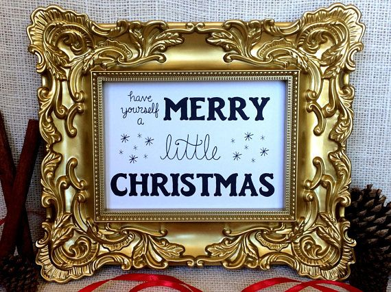 Have yourself a merry little christmas print this listing is for have yourself a merry little christmas print this listing is for print only frame not included choose from 5x7 or 8x10 select from drop down menu solutioingenieria Gallery