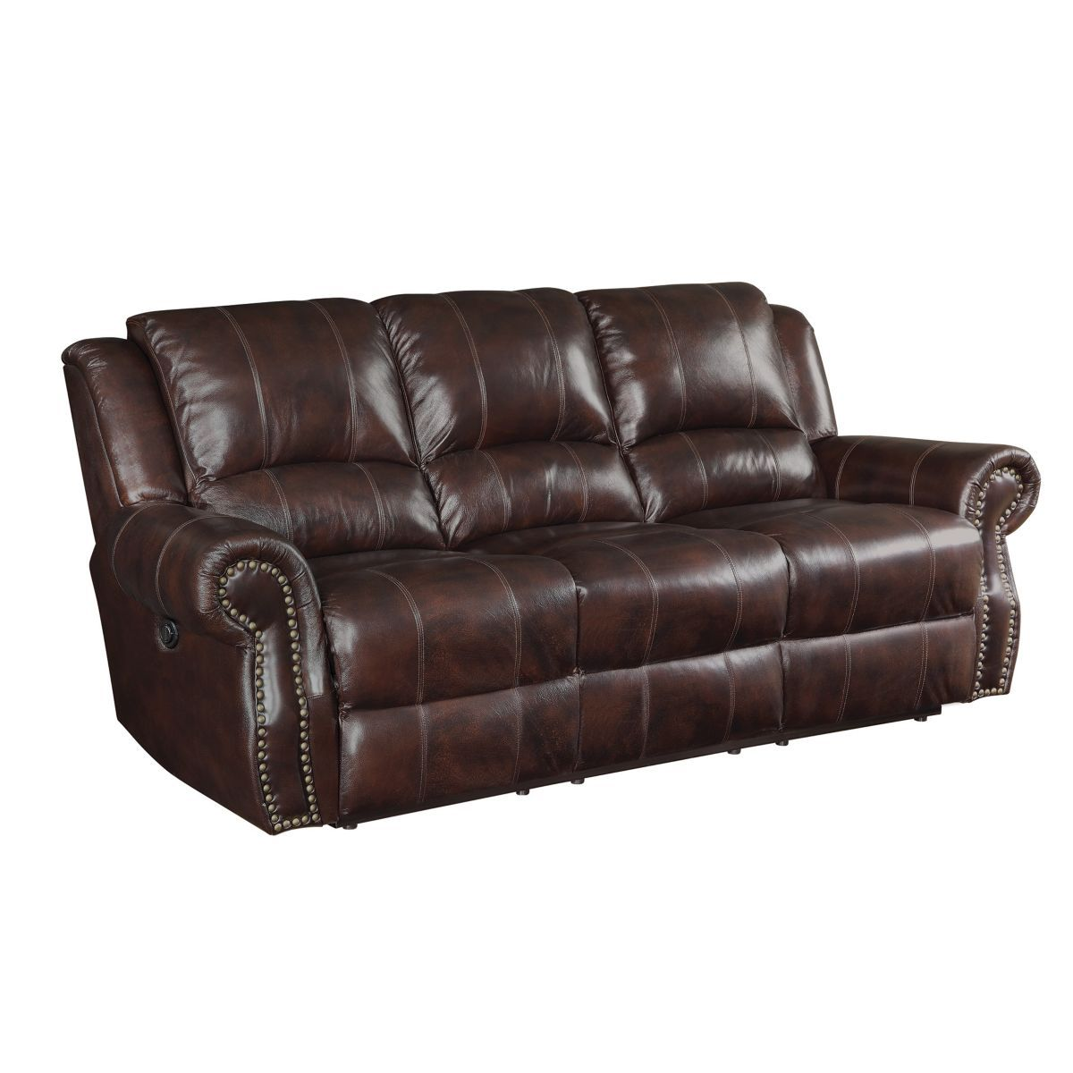 Best 1209 80 Coaster Motion Sofa Leather Reclining Sofa 400 x 300