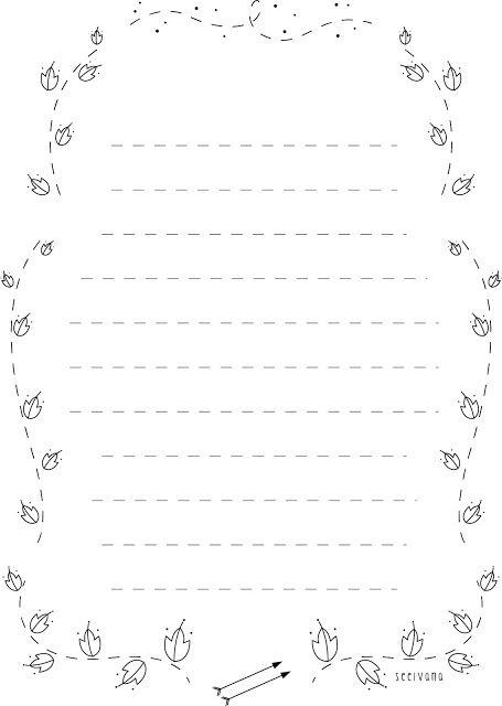 Seelvainilla Papel De Carta Imprimible Cartas De Papel Plantillas De Letras Para Imprimir Papel Para Escribir