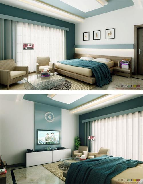 Blue Modern Bedroom Modern White Aqua Blue Bedroom Modern Bedroom With Great Feature Wall