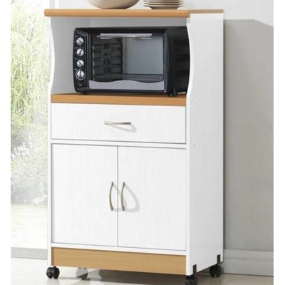 livinia microwave kitchen cart