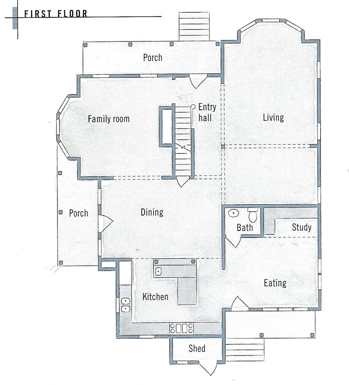 Folk Victorian Farmhouse Floor Plans