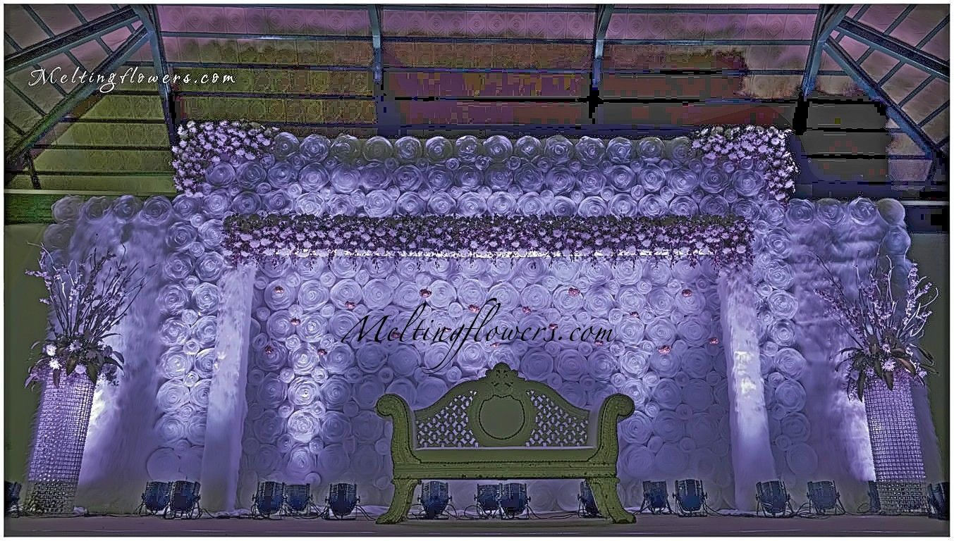 Wedding Backdrop Decoration Stage By One Of The Prominent Florist In Bangalore Melting Flowers