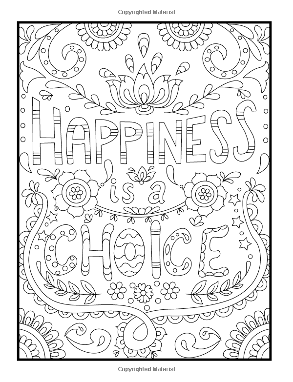 Inspirational Quotes An Adult Coloring Book
