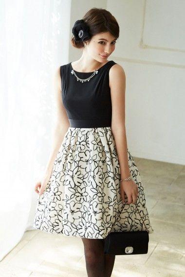 46874fcb46c5f テープフラワー刺繍ドレス - 「AIMER(エメ)公式通販サイト|パーティー ...