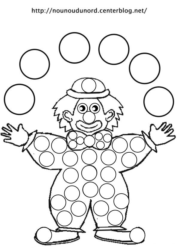 Liste de mes coloriages clowns le cirque pinterest gommette coloriage et coloriage clown - Coloriage clown a imprimer ...
