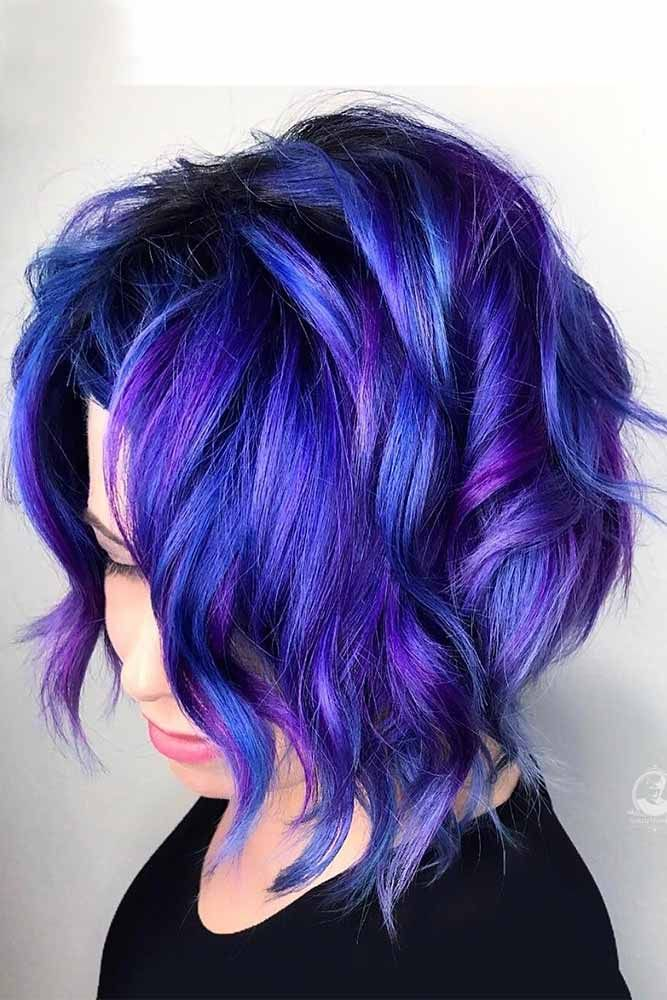 50 Cosmic Dark Purple Hair Hues For The New Image ...