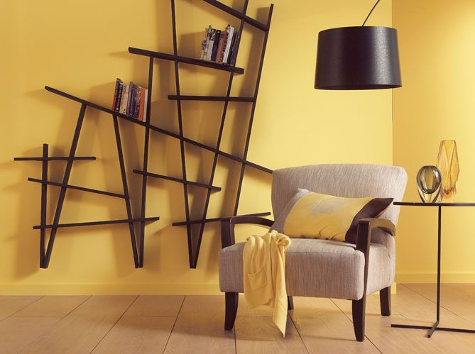 la couleur tendance de l 39 ann e sera jaune dor pour le mur. Black Bedroom Furniture Sets. Home Design Ideas
