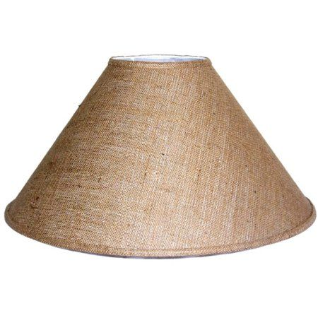 Lamp Factory Crown Lighting Medium Brown Burlap Coolie Lampshade    Walmart.com