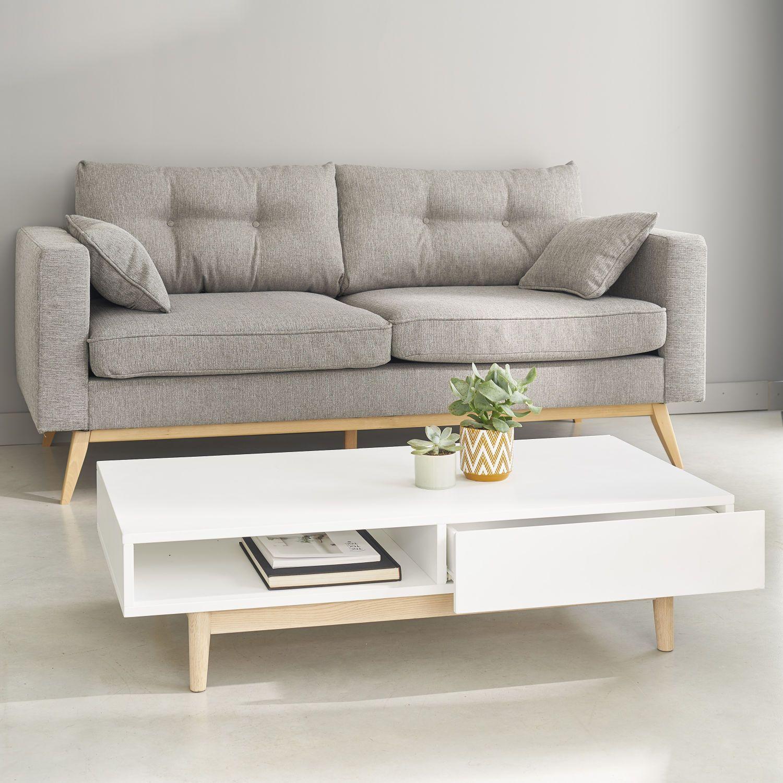 Couchtisch Im Skandinavischen Stil Mit 2 Schubladen Weiss Maisons Du Monde Ide Ruang Keluarga Desain Ide Kamar Tidur