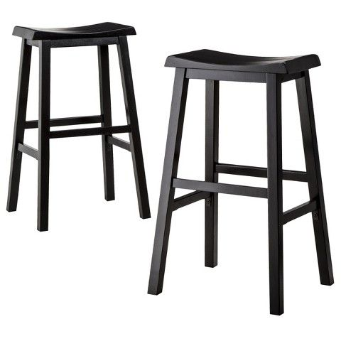 29 Trenton Saddle Seat Barstool Threshold Wooden Bar Stools Bar Stools Black Bar Stools