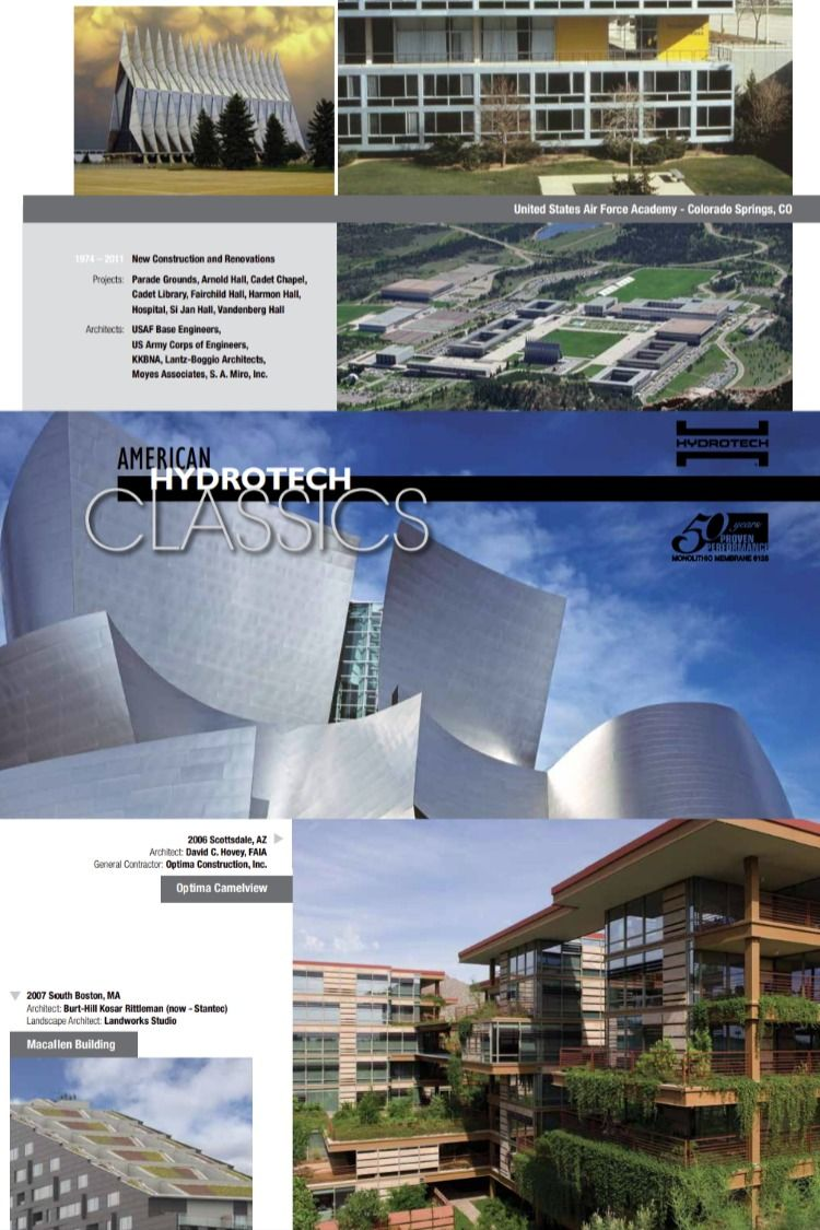 Hydrotech Classics Book In 2020 Green Roof United States Air Force Academy Architect