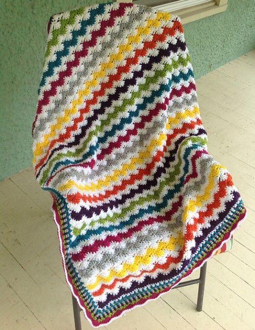 Crochet For Children: Zigzag Shells Baby Afghan - Free Pattern ...
