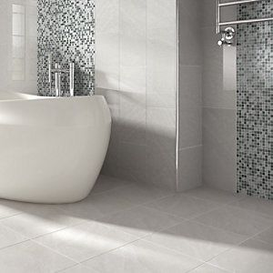 Wickes Kensington Grey Stone Effect Ceramic Wall Tile