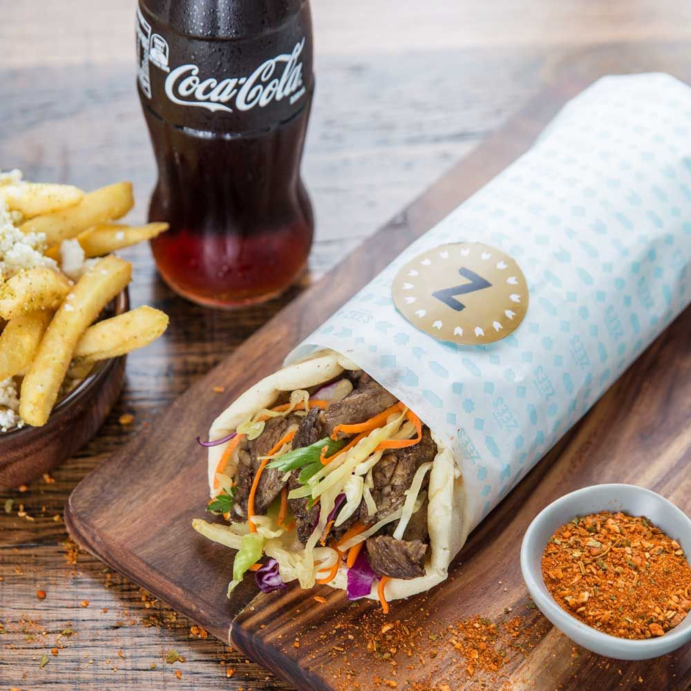Mister Zee S Kebab With Fries And Coke Packaging Design By Messy Design Restaurant Recipes Food Menu Design Kebab