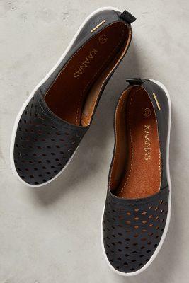 Kaanas Patmos Slip-Ons Black 9 Shoes