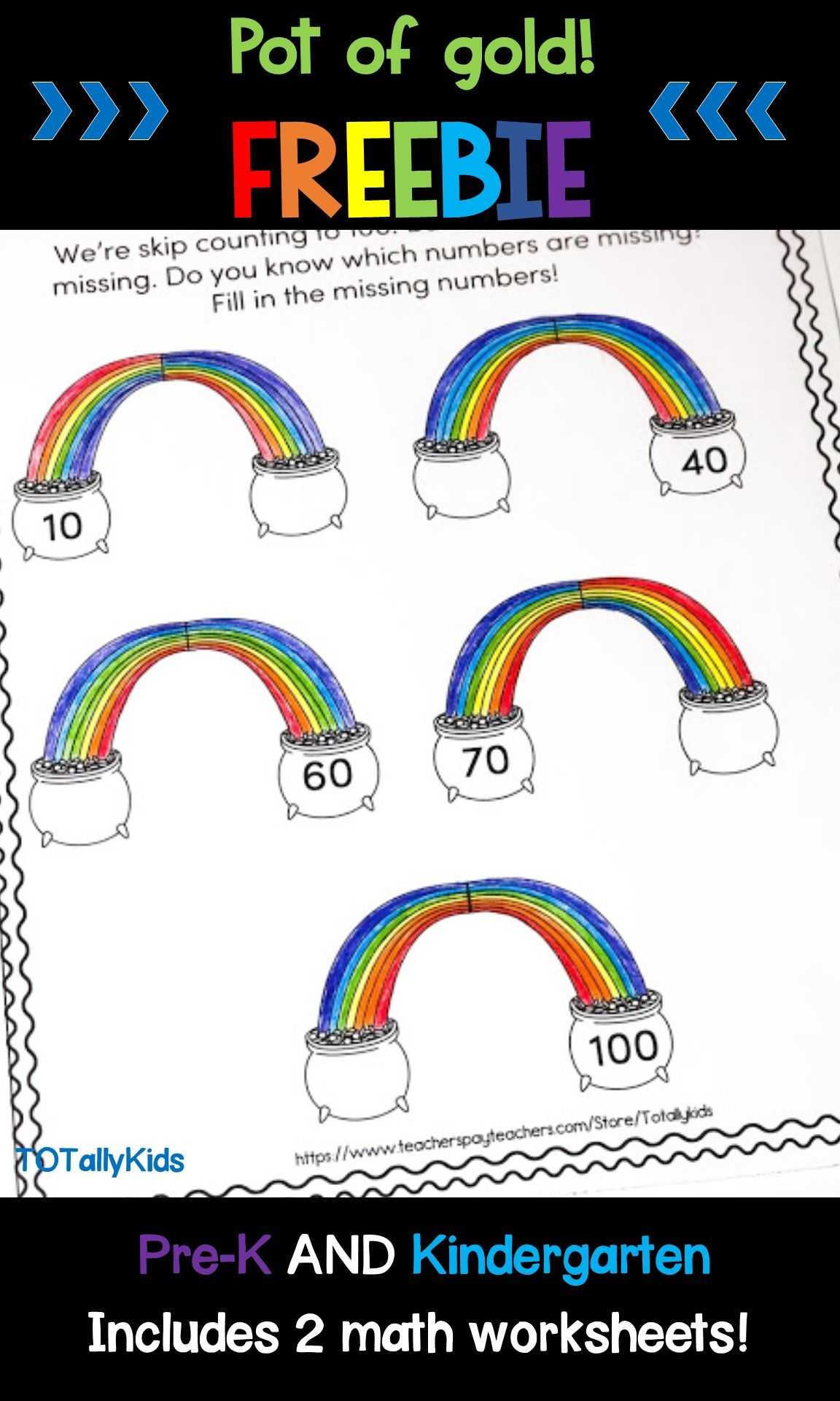 Counting By 10 S St Patricks Freebie