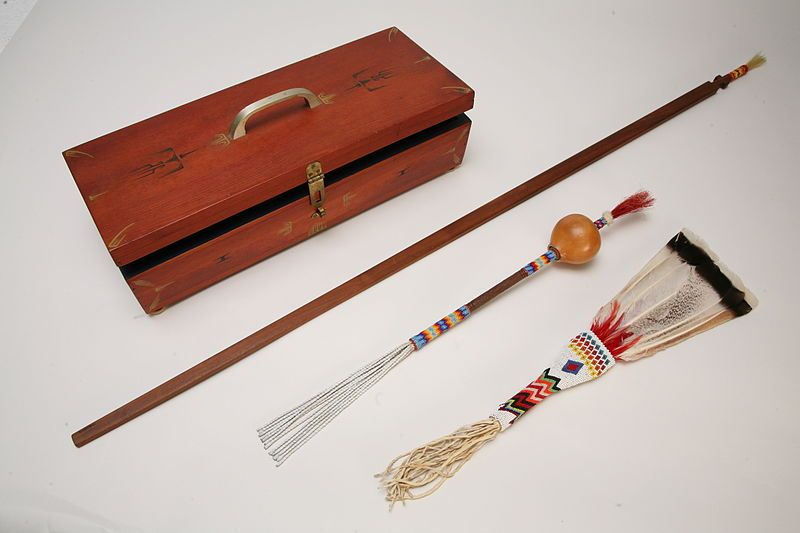A peyote set such as this is used by the medicine man during the peyote ritual.