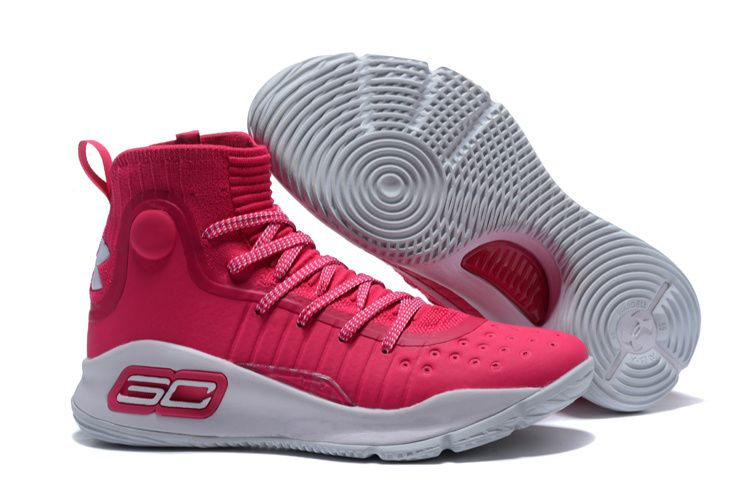 2017 Under Armour Curry 4 Pink White in 2019  3efb538d8