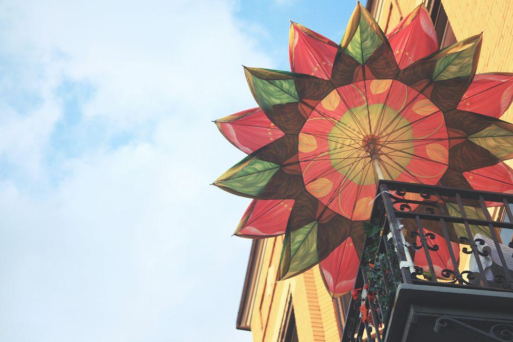 Montréal, Outremont, balcon, parasol