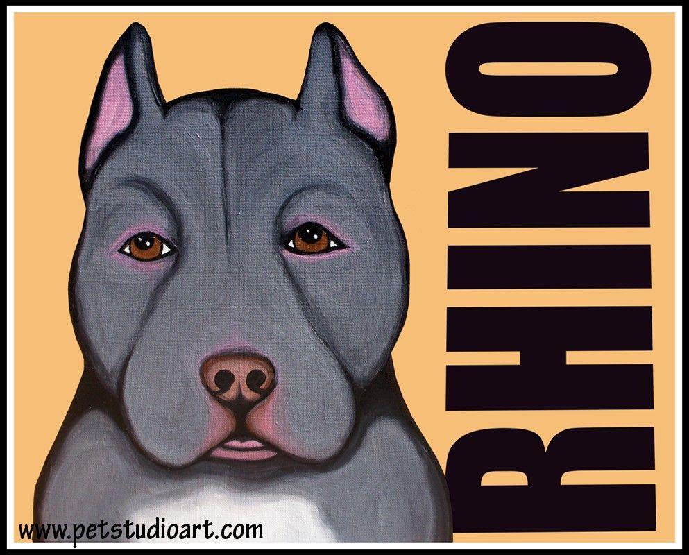 Rhino Original Portrait 275 Www Petstudioart Com Pets Animals
