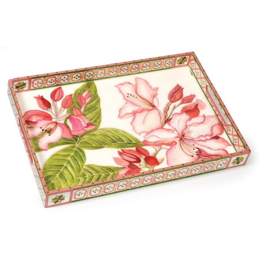 William Yeoward Interior Design | Rhododendron Tray | Painted, Wooden & Decoupage Trays | Home Decor ...