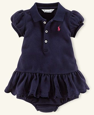 442cacb2e56 Ralph Lauren Baby Dress, Baby Girls Mesh Polo Dress - Kids Newborn ...