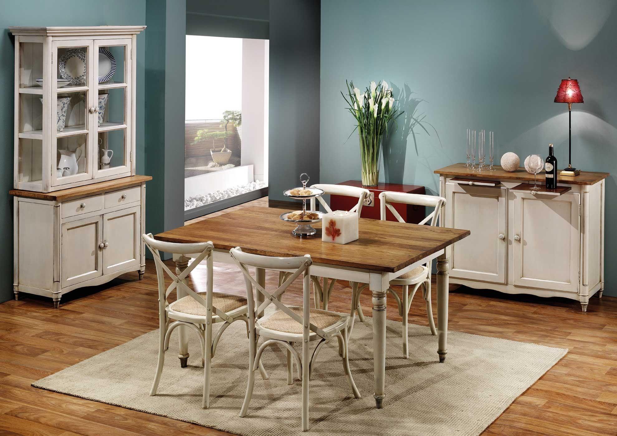 Conjunto mesa y sillas comedor vintage Fergus | El romántico estilo ...