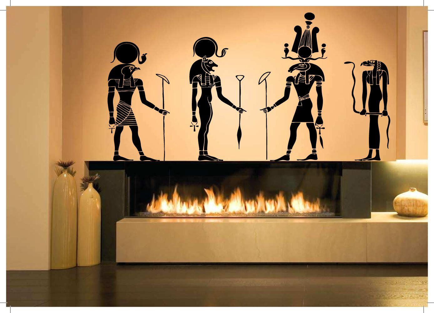 Wall Room Decor Art Vinyl Sticker Mural Decal Egyptian Gods Big ...