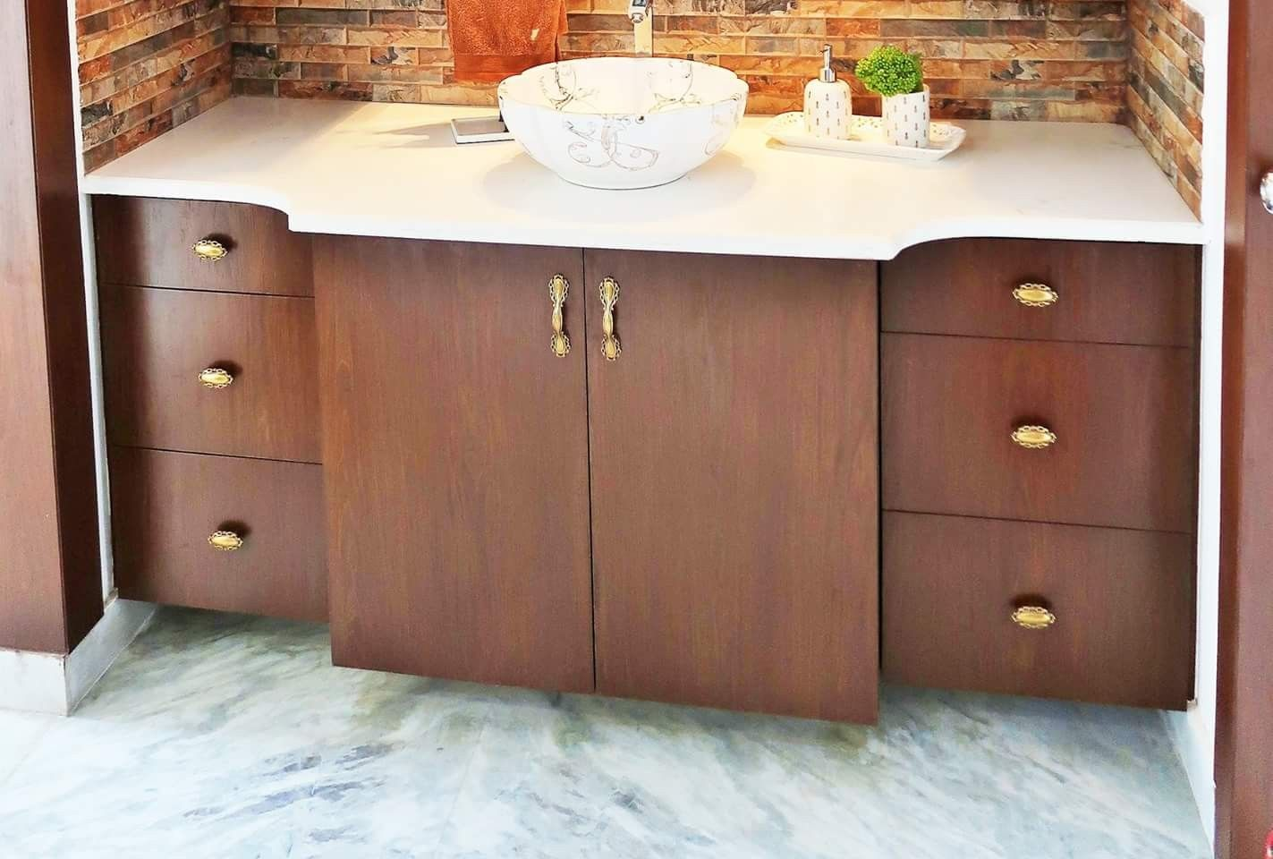 Living And Dining Area Cabinets Washbasin Design Bathroom