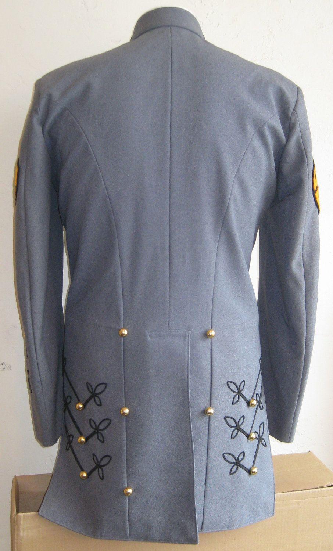 Vintage Mens Blue Military Marching Band Uniform Jacket ...