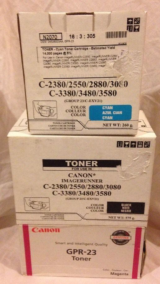 GPR-23 Black Cyan Magenta Toners Canon Compatible C EXV21 Image Runner 2550 2880 #Katun