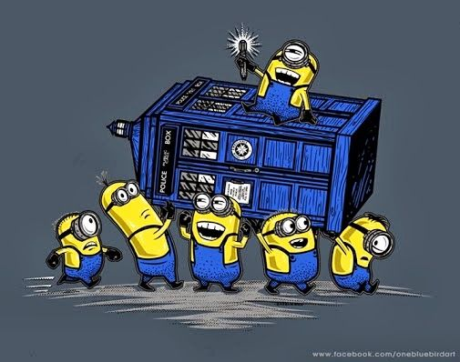 The Minions have the phonebox!