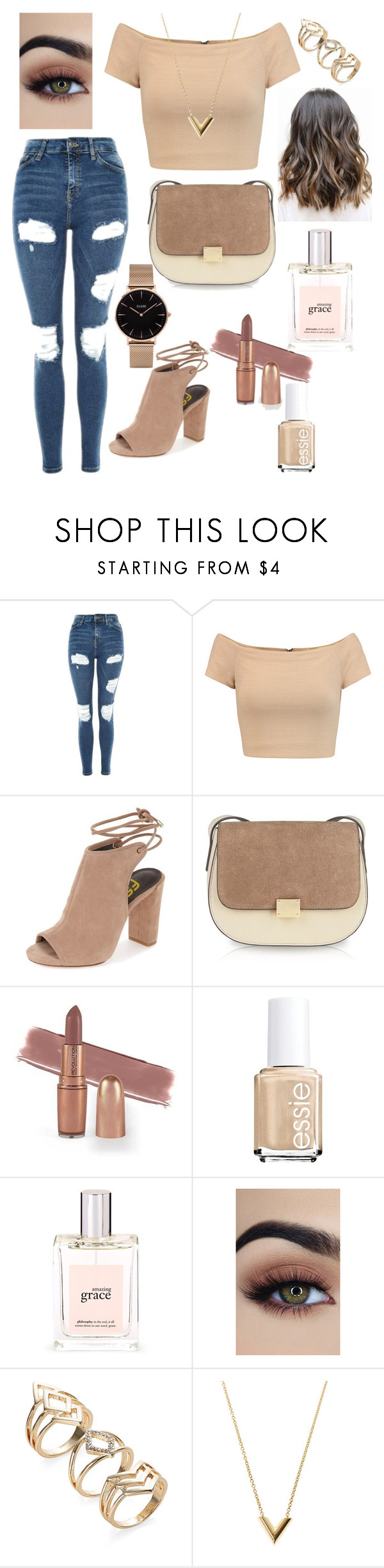 """Sans titre #6"" by amystyles-i ❤ liked on Polyvore featuring Topshop, Alice + Olivia, philosophy, Louis Vuitton and CLUSE"