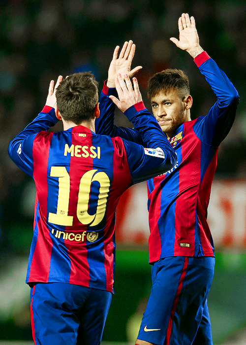 Neymar and Messi 2 goals each vs. Elche on 24 January 2015. |  Lionel Messi has scored 8 goals and given 5 assists in the 6 games he has so far played for Barcelona in 2015.