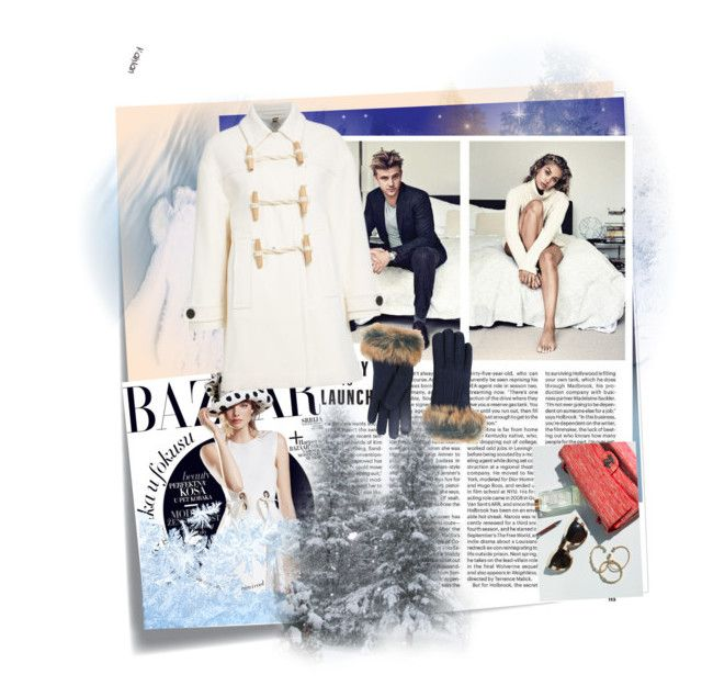 """""""the snow"""" by wendy-737 on Polyvore featuring Post-It, Burberry and UGG"""