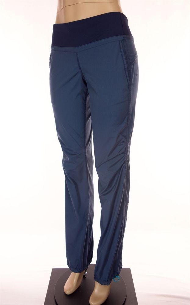 LULULEMON Pants Size 6 S Blue Pinstripe Drawstring Hem Yoga Work Out #Lululemon #PantsTightsLeggings