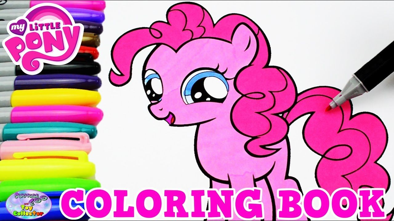 My Little Pony Coloring Book Pinkie Pie Filly MLP Episode Surprise Egg a...