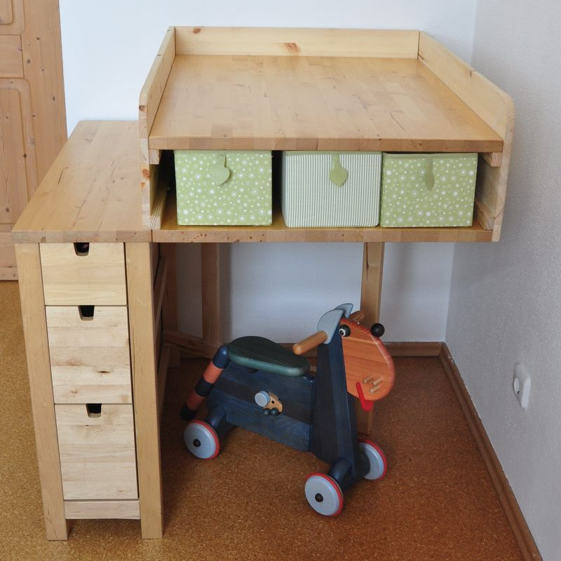 ikea hack norden folding table as changing table