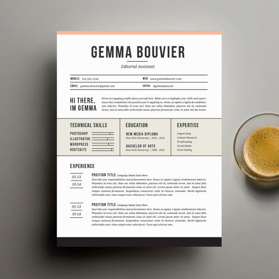 S P E C I A L \/ \/ 2 resume templates for $20 with coupon code - editorial assistant cover letter template