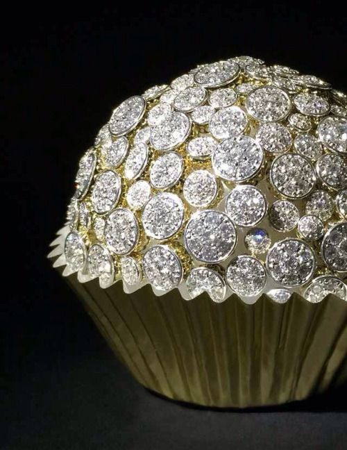 Not Edible Diamond Studded Cupcake Bling It On In